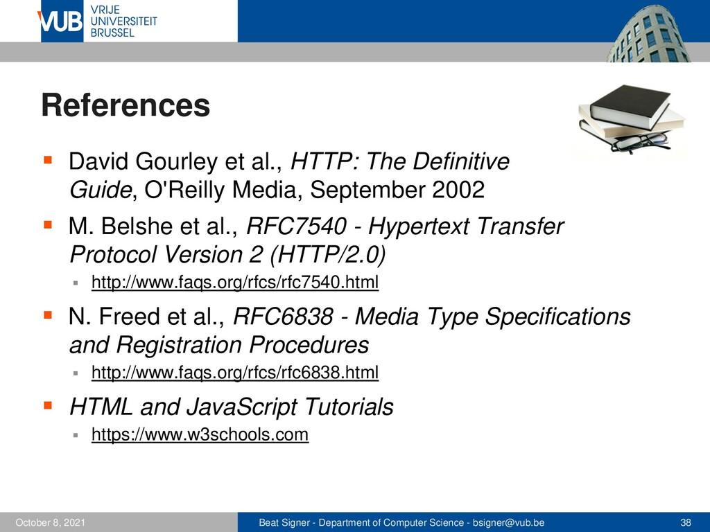 2 December 2005 Next Lecture HTML5 and the Open...