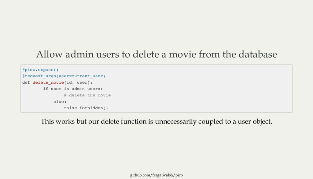github.com/fergalwalsh/pico Allow admin users t...
