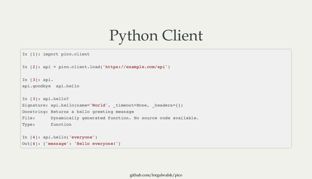 github.com/fergalwalsh/pico Python Client In [1...