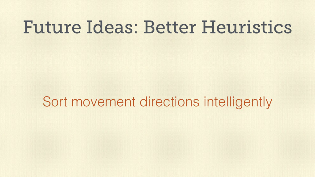 Future Ideas: Better Heuristics Sort movement d...