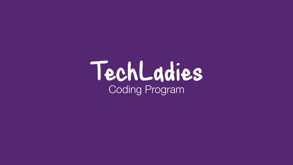 TechLadies Coding Program