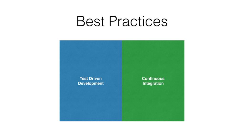Best Practices Test Driven Development Continuo...