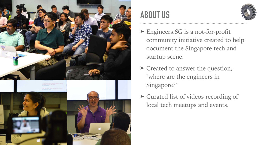 ABOUT US ➤ Engineers.SG is a not-for-profit com...
