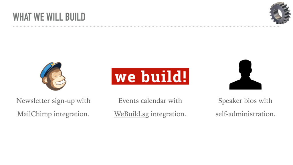 WHAT WE WILL BUILD Newsletter sign-up with Mail...