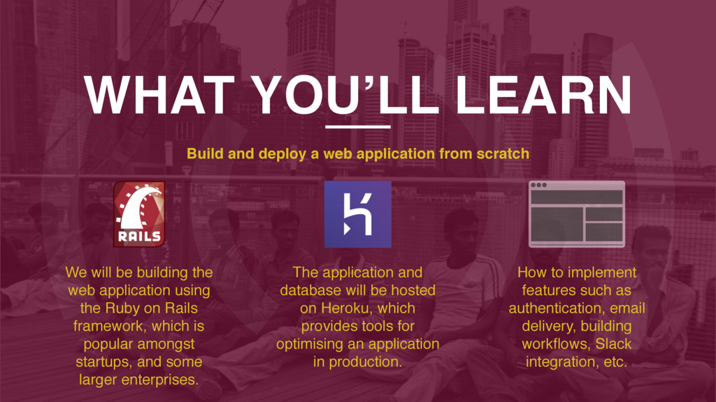 WHAT YOU'LL LEARN Build and deploy a web applic...