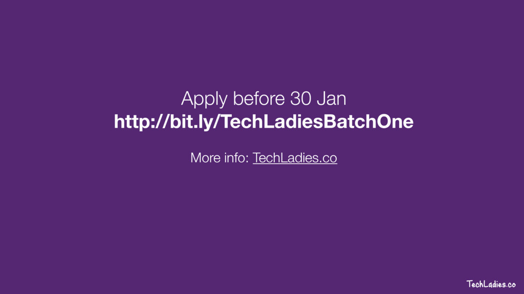 TechLadies.co Apply before 30 Jan http://bit.ly...