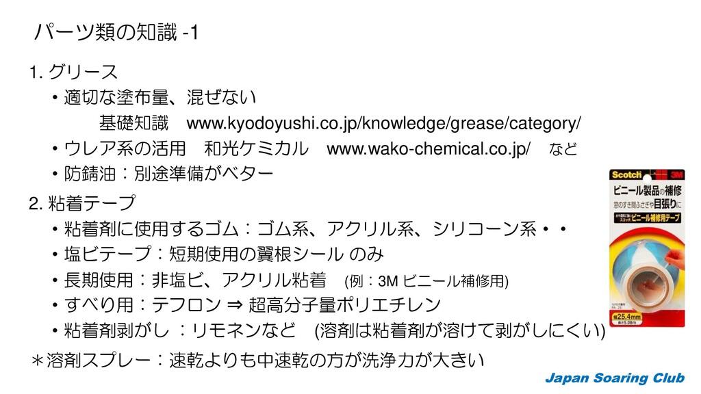 パーツ類の知識 -1 1. グリース ・適切な塗布量、混ぜない 基礎知識 www.kyodoy...