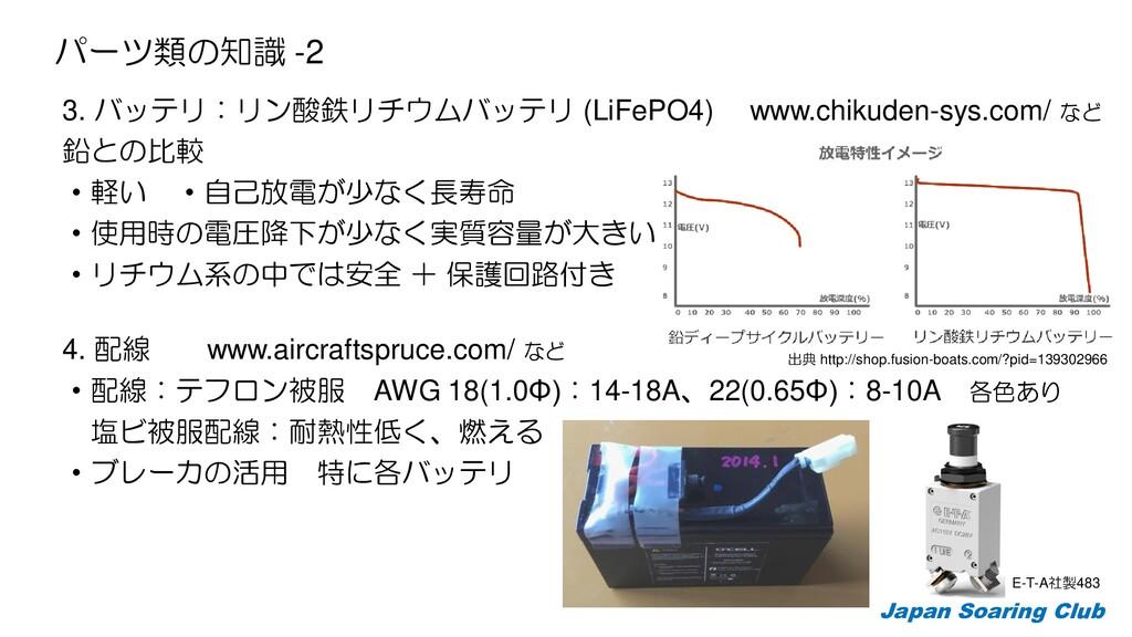 3. バッテリ:リン酸鉄リチウムバッテリ (LiFePO4) www.chikuden-sys...