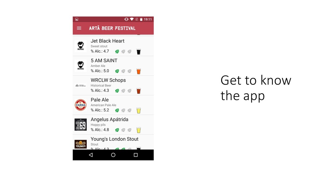 Get to know the app