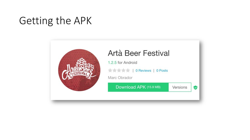 Getting the APK