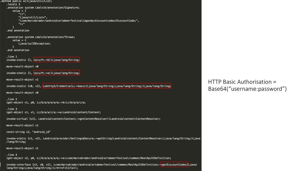 """HTTP Basic Authorisation = Base64(""""username:pas..."""