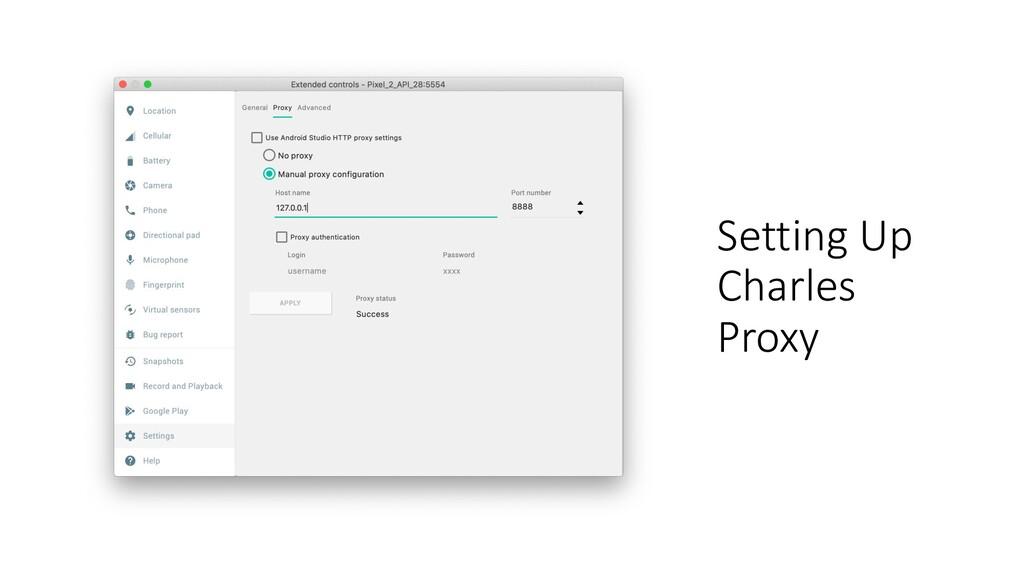 Setting Up Charles Proxy