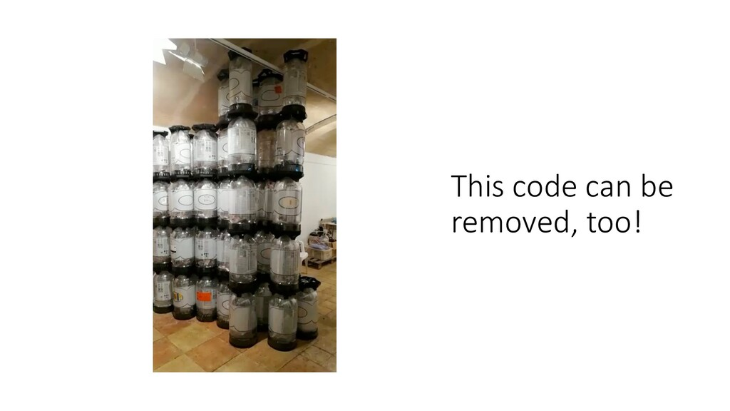 This code can be removed, too!