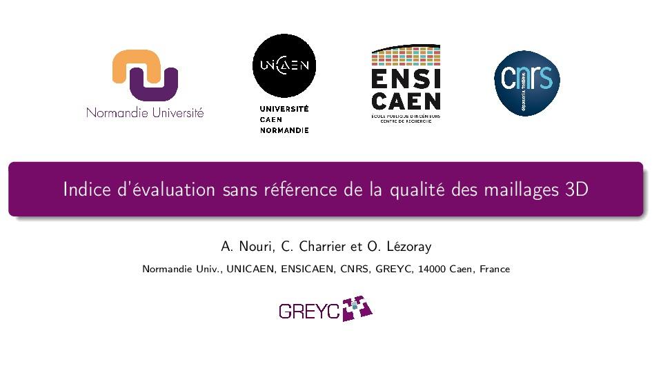 Indice d'évaluation sans référence de la qualit...