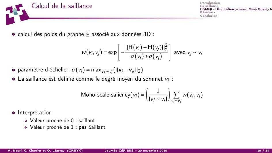 Introduction La saillance BSMQI - Blind Salienc...