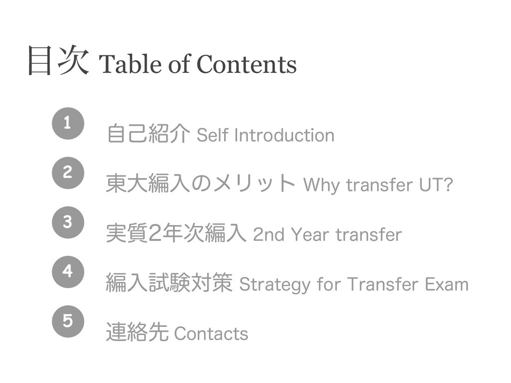  Table of Contents ࣗݾհ 4FMG*OUSPEVDUJPO ౦େฤ...