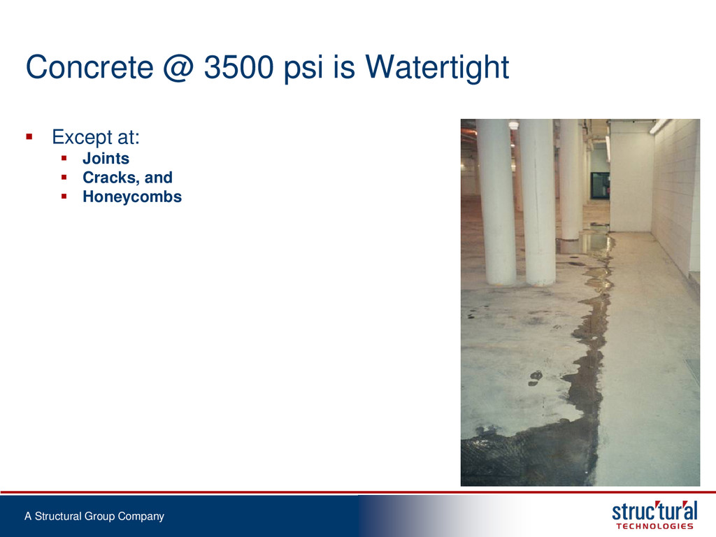 A Structural Group Company Concrete @ 3500 psi ...
