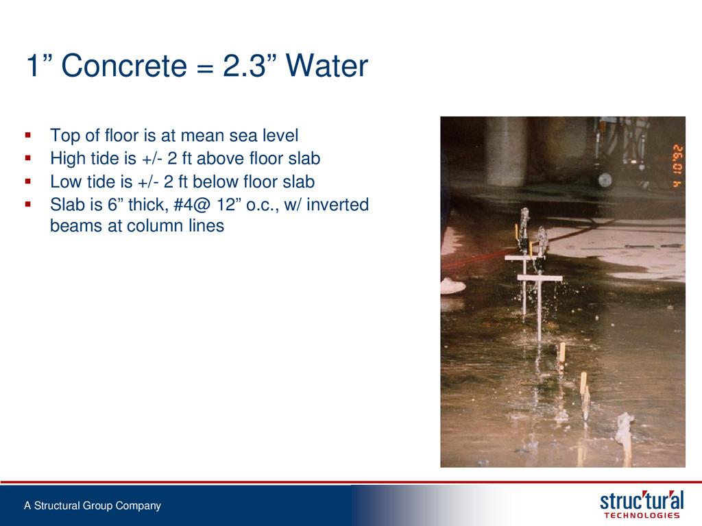 "A Structural Group Company 1"" Concrete = 2.3"" W..."