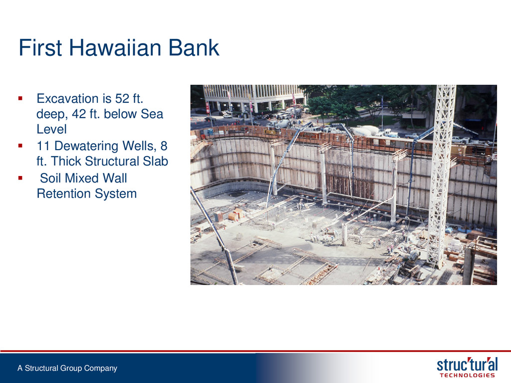 A Structural Group Company First Hawaiian Bank ...