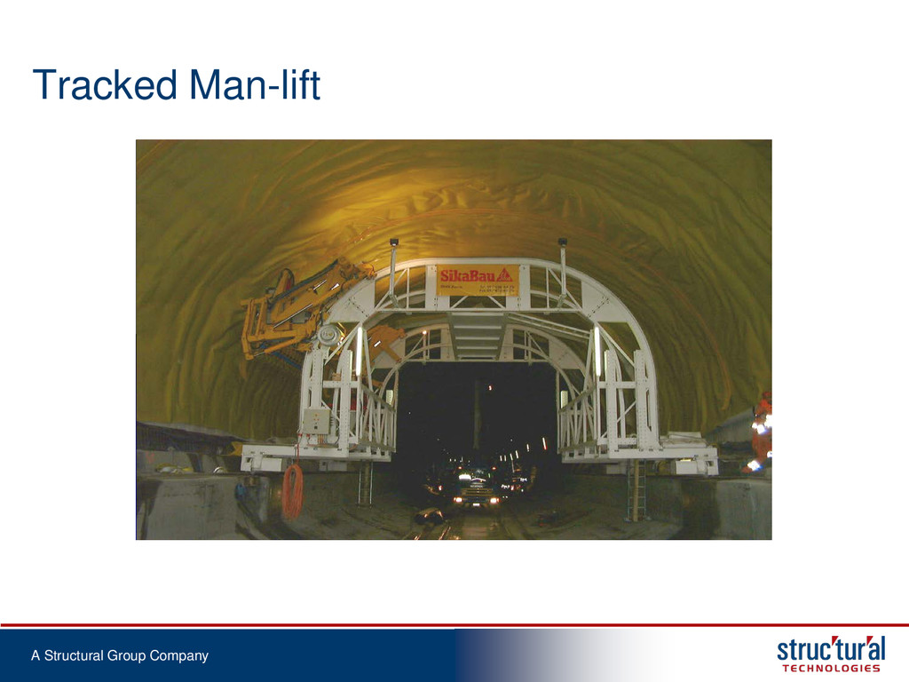 A Structural Group Company Tracked Man-lift