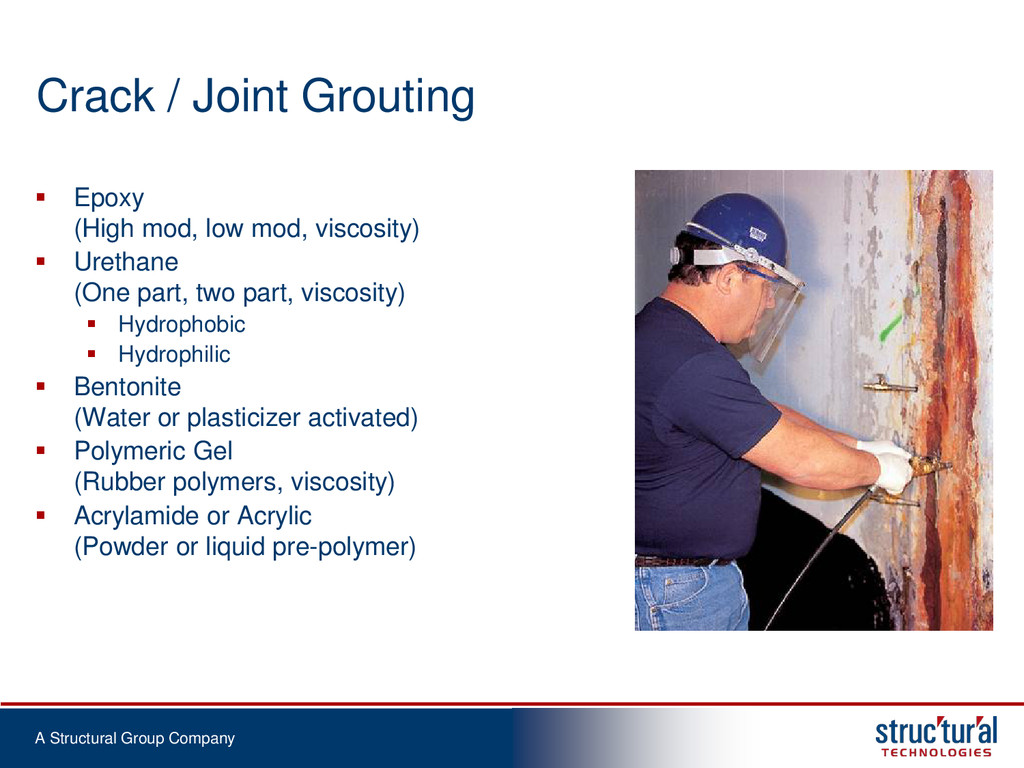 A Structural Group Company Crack / Joint Grouti...