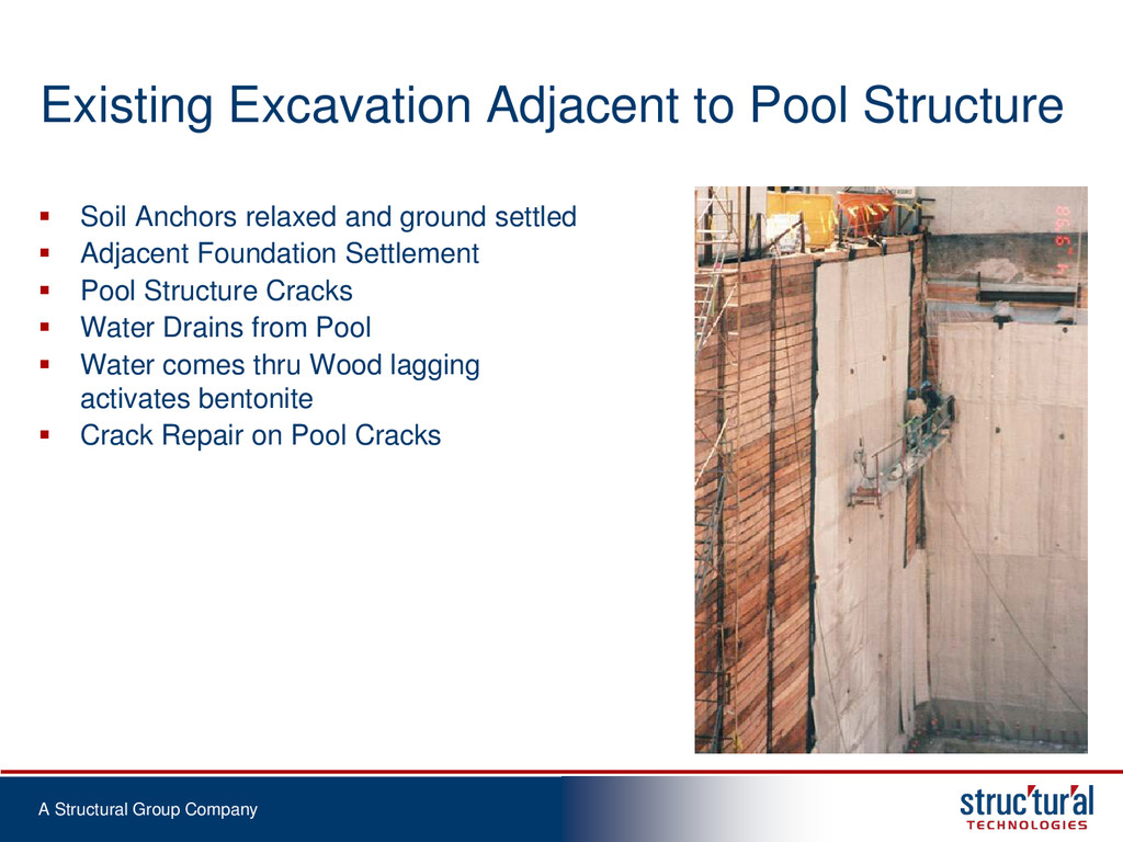 A Structural Group Company Existing Excavation ...