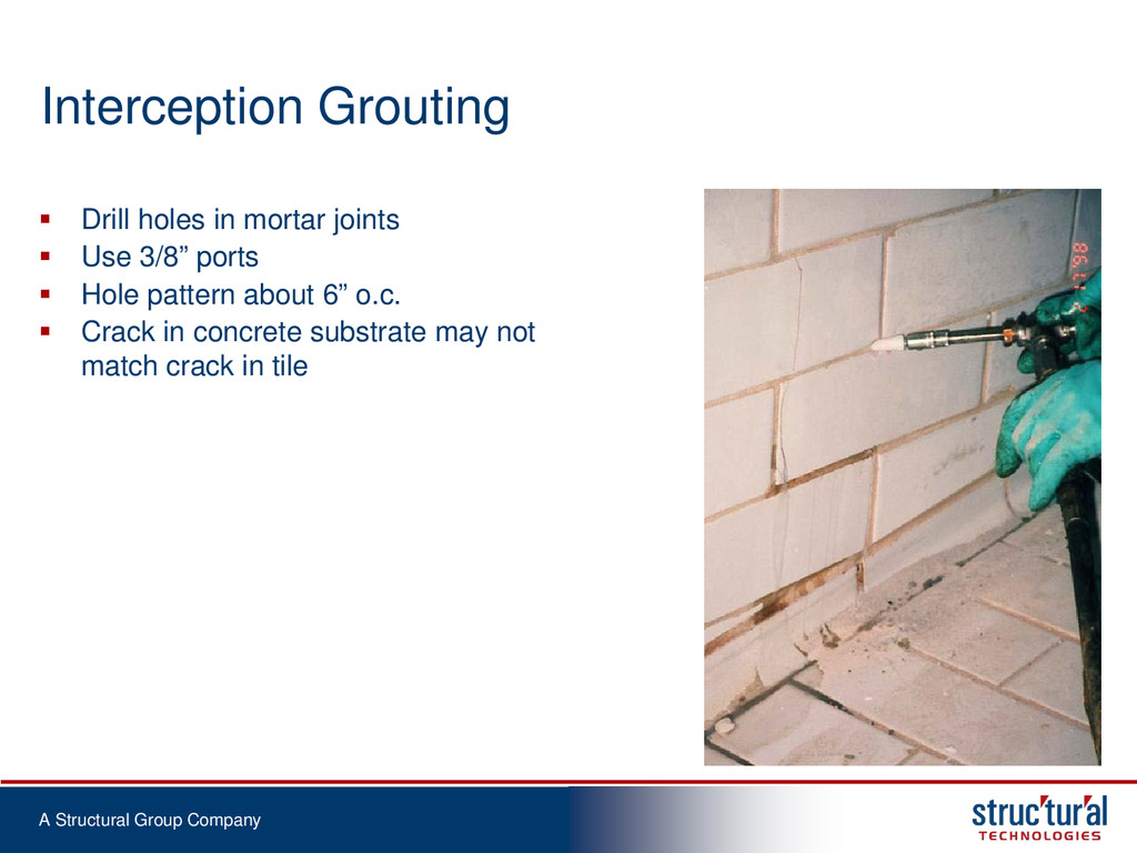A Structural Group Company Interception Groutin...
