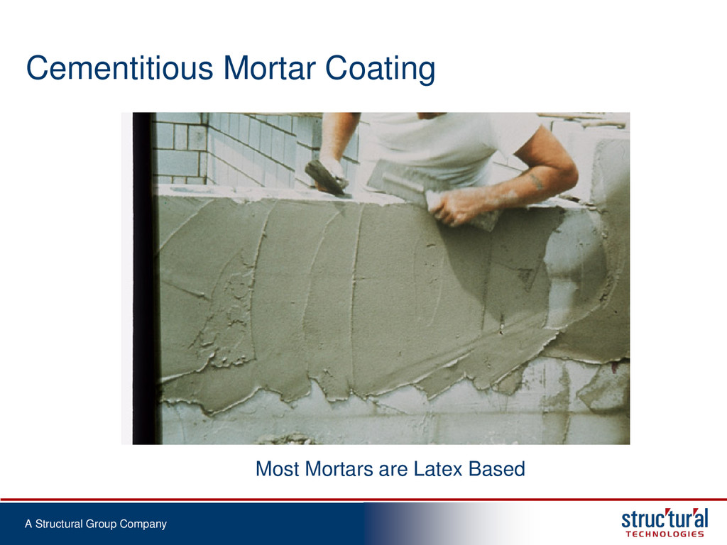A Structural Group Company Cementitious Mortar ...
