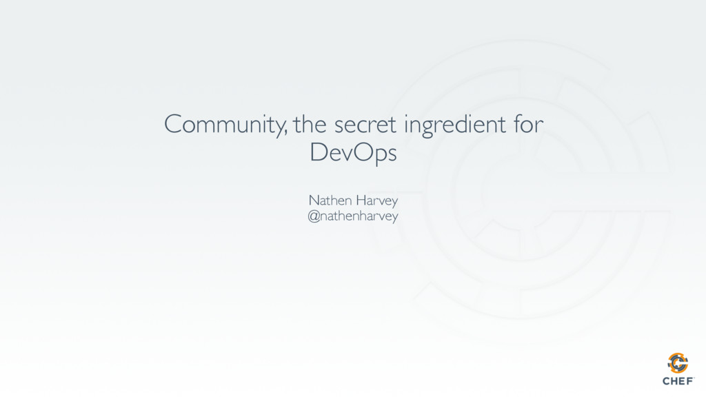 Community, the secret ingredient for DevOps Nat...