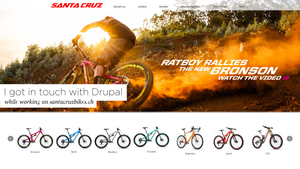 while working on santacruzbikes.ch I got in tou...