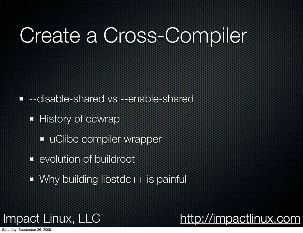 Impact Linux, LLC http://impactlinux.com Create...