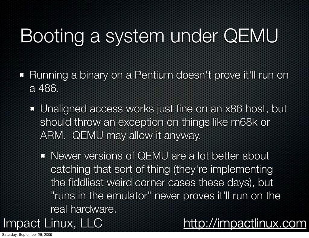 Impact Linux, LLC http://impactlinux.com Bootin...