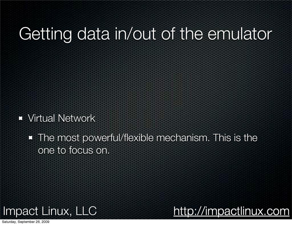 Impact Linux, LLC http://impactlinux.com Gettin...