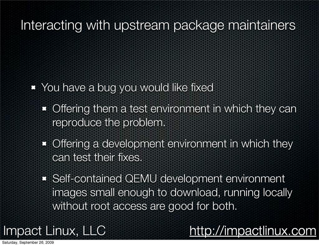 Impact Linux, LLC http://impactlinux.com Intera...