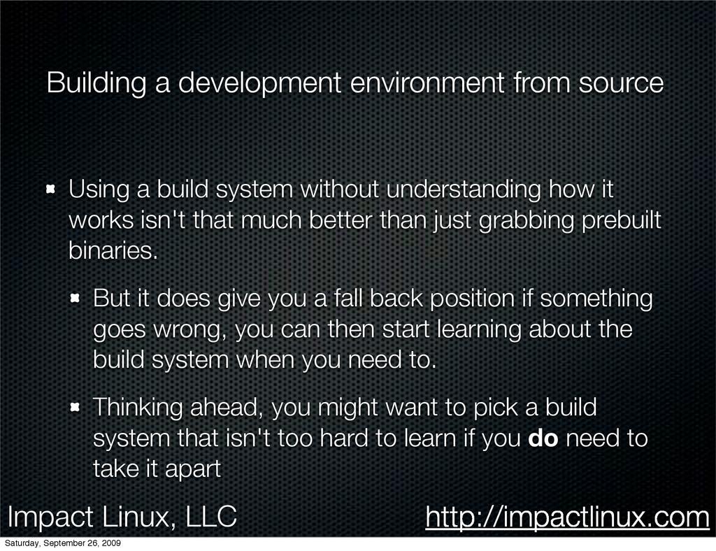 Impact Linux, LLC http://impactlinux.com Buildi...
