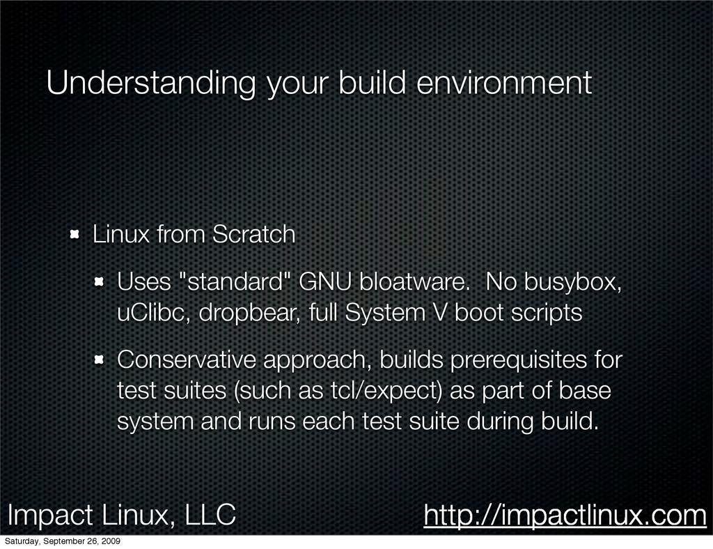 Impact Linux, LLC http://impactlinux.com Unders...