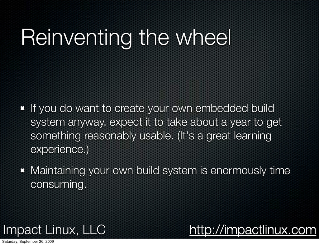 Impact Linux, LLC http://impactlinux.com Reinve...
