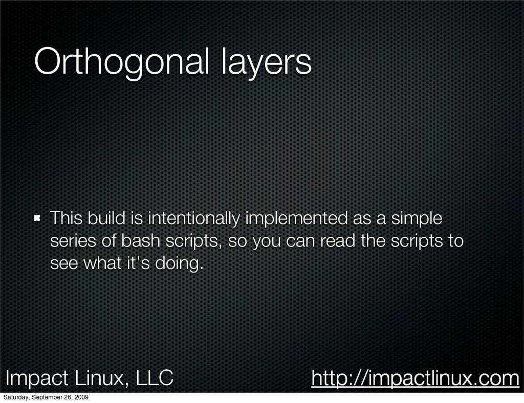 Impact Linux, LLC http://impactlinux.com Orthog...