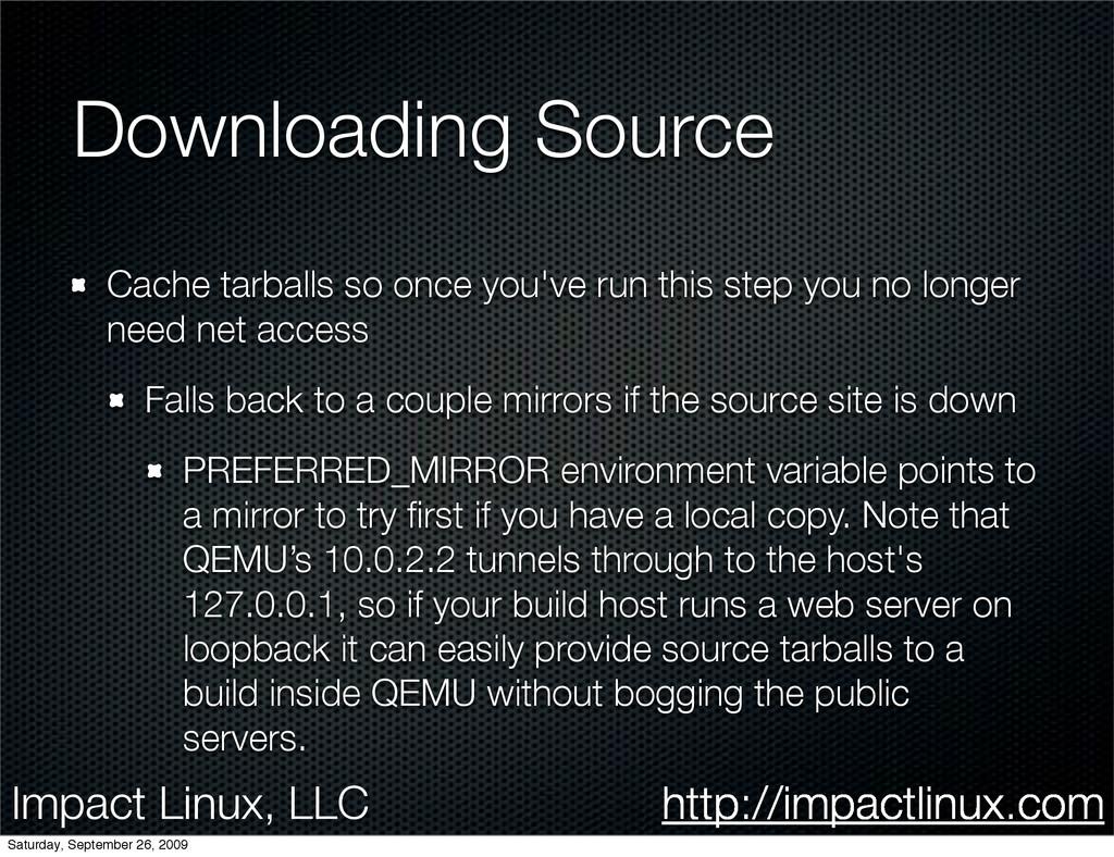 Impact Linux, LLC http://impactlinux.com Downlo...