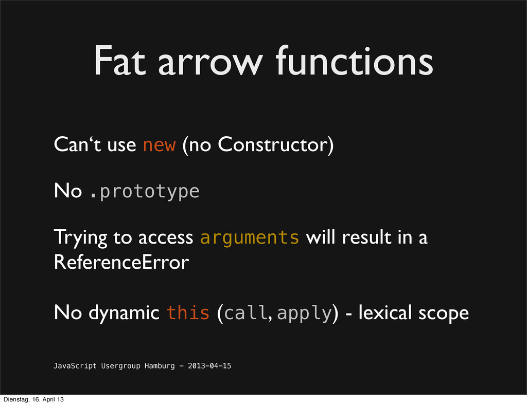 JavaScript Usergroup Hamburg - 2013-04-15 Fat a...