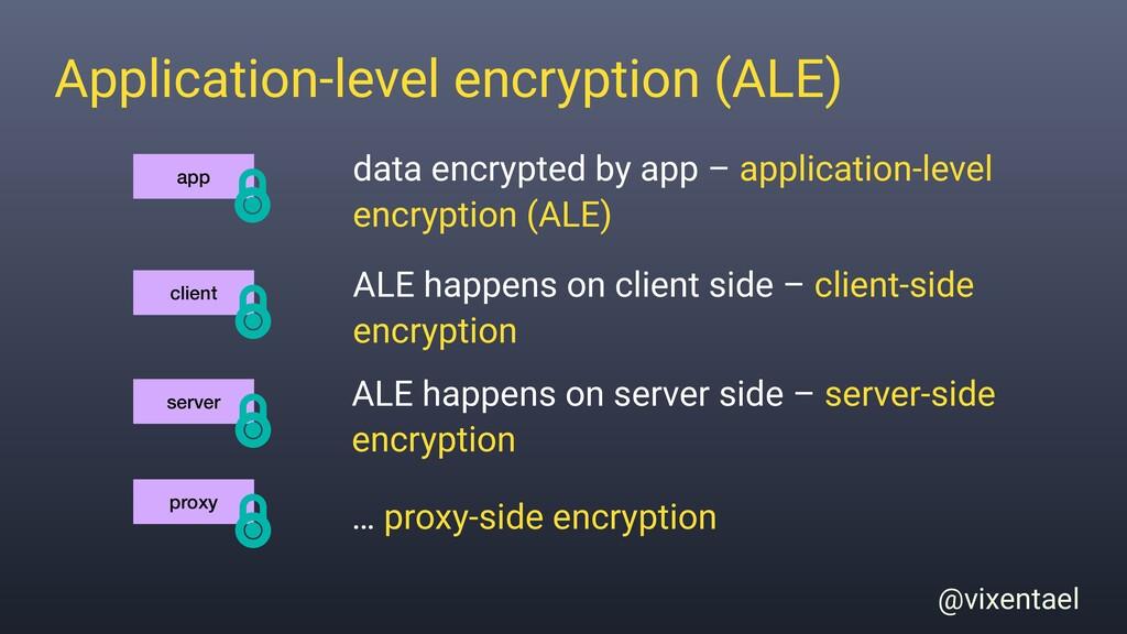 @vixentael Application-level encryption (ALE) d...