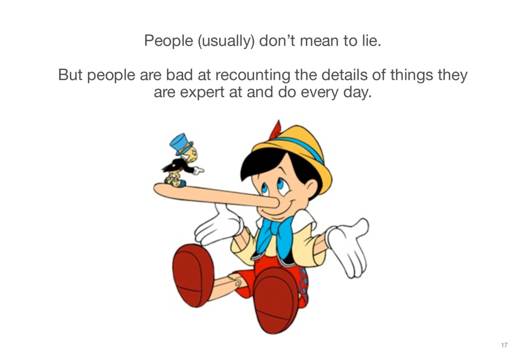 People (usually) don't mean to lie. But people ...