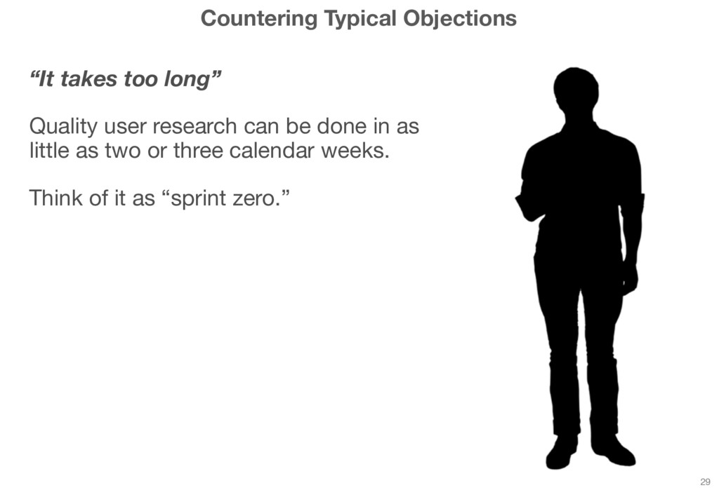 """Countering Typical Objections """"It takes too lon..."""