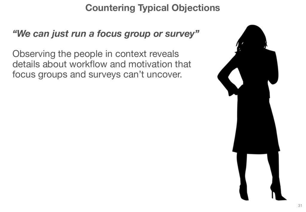 """Countering Typical Objections """"We can just run ..."""