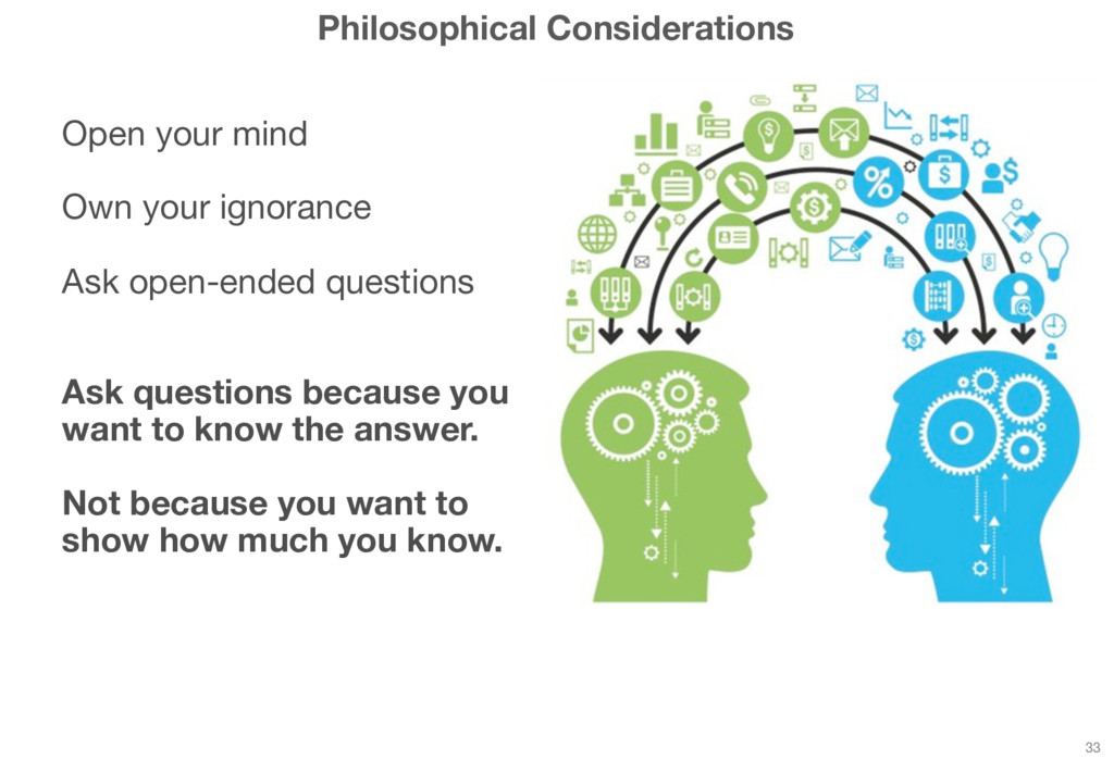 Philosophical Considerations Open your mind Own...