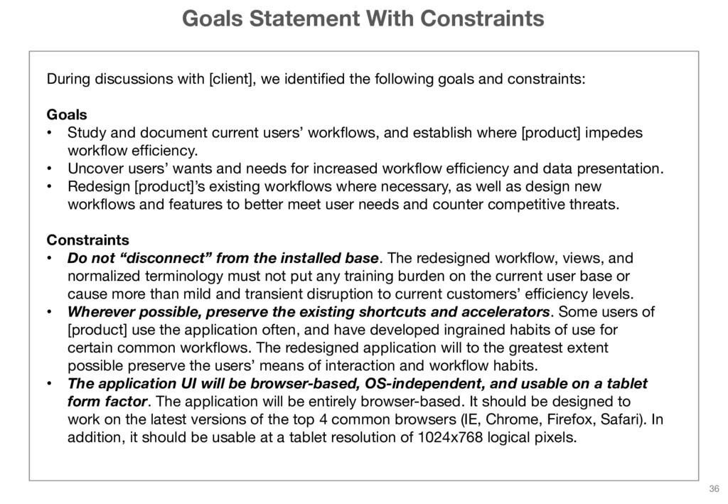 Goals Statement With Constraints During discuss...