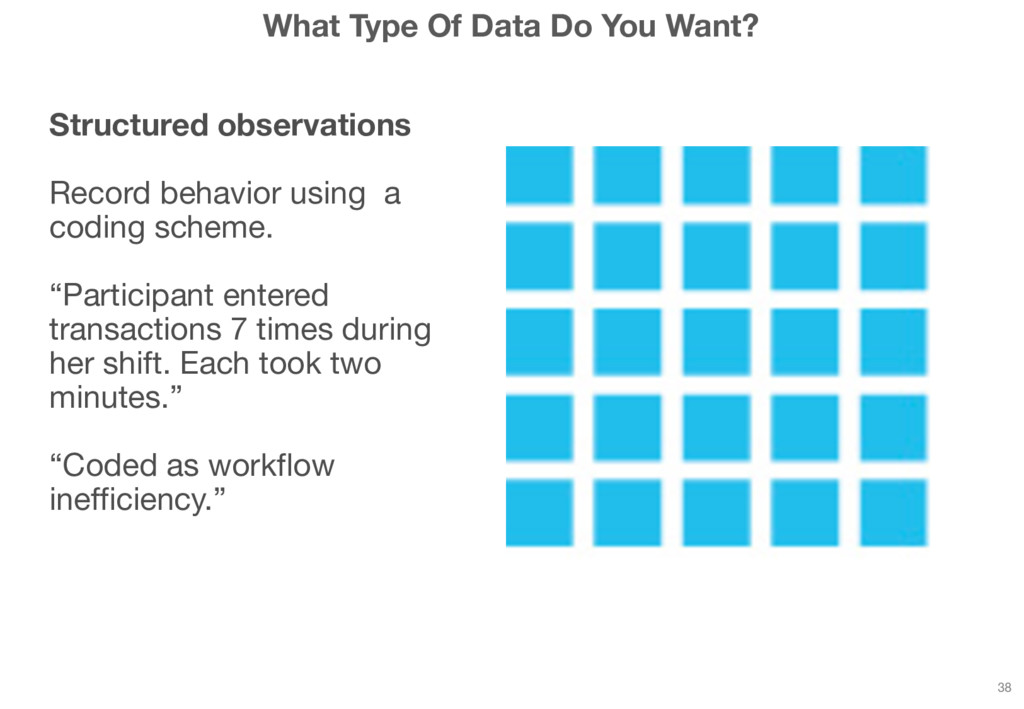 What Type Of Data Do You Want? Structured obser...
