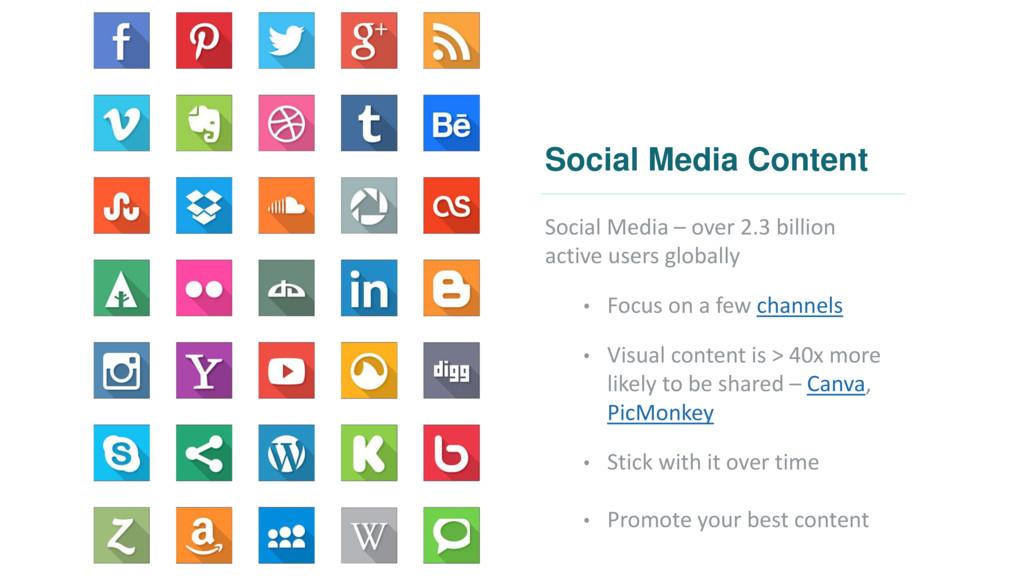 Social Media Content Social Media – over 2.3 bi...