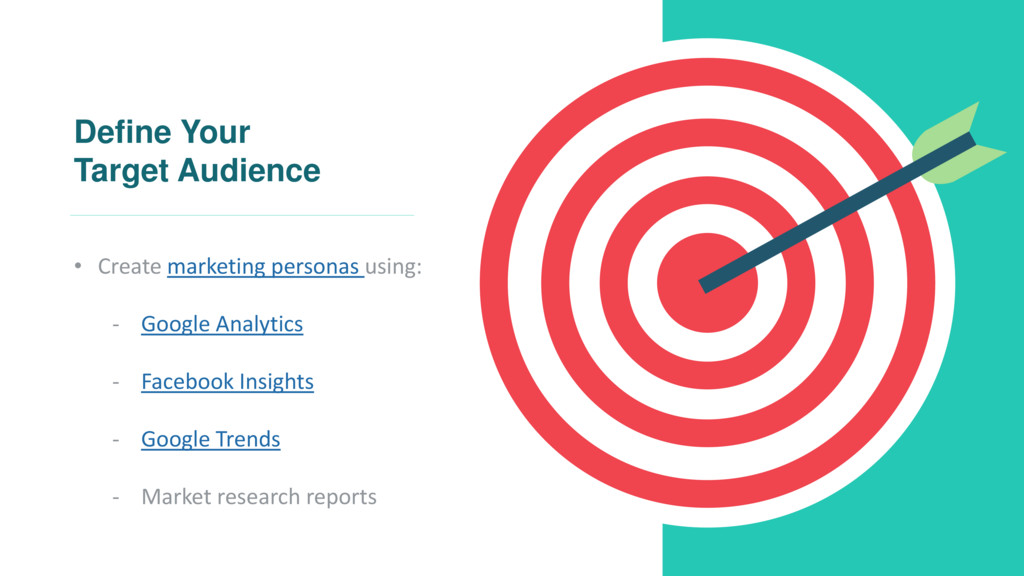 Define Your Target Audience • Create marketing ...