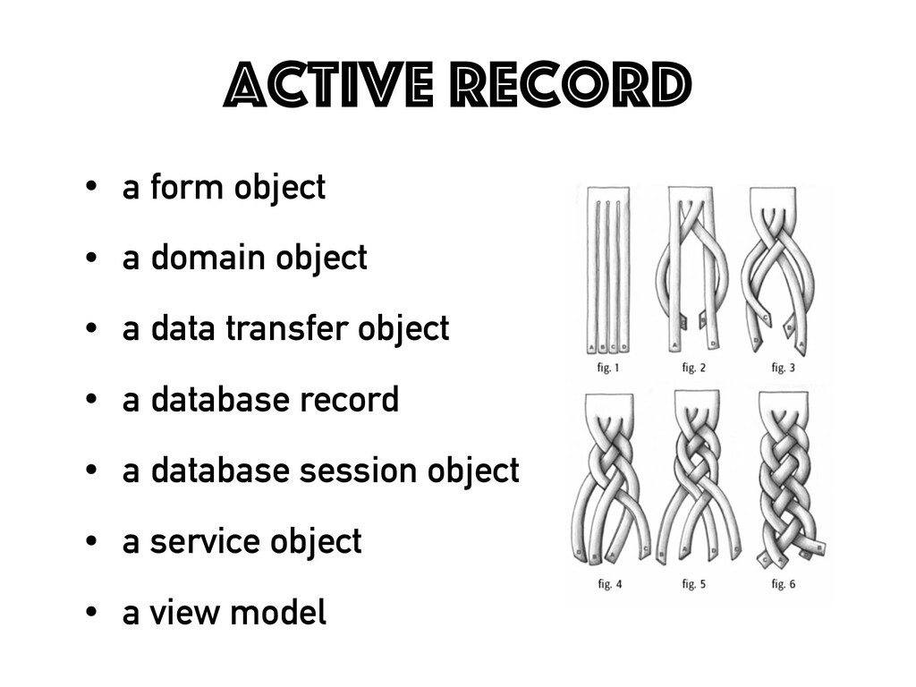 Active Record • a form object • a domain object...